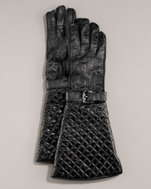 Burberry Quilted Patent Gloves