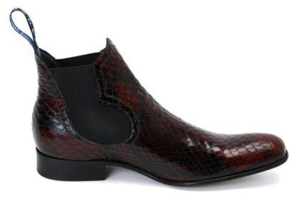 "John Fluevog Releases Limited Edition ""Riga"" Faux Snakeskin Boots"