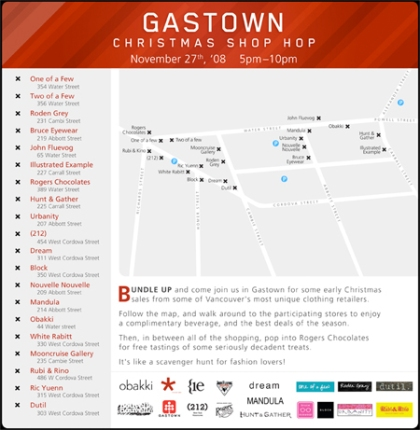 The Gastown Shop Hop