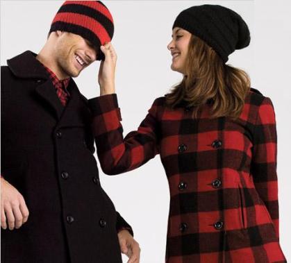 Lumberjack Check Pea Coat Alert