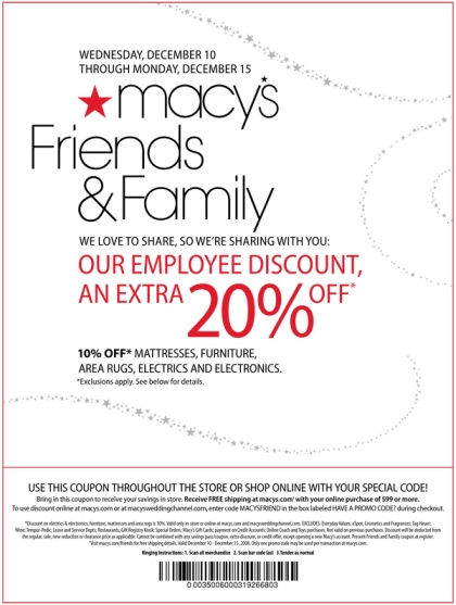20% Off With Macy's Friends & Family Coupon!
