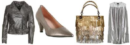 Metallics Help You Shine On Through Dreary Days